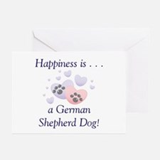 Happiness is...a German Shepherd Dog Greeting Card