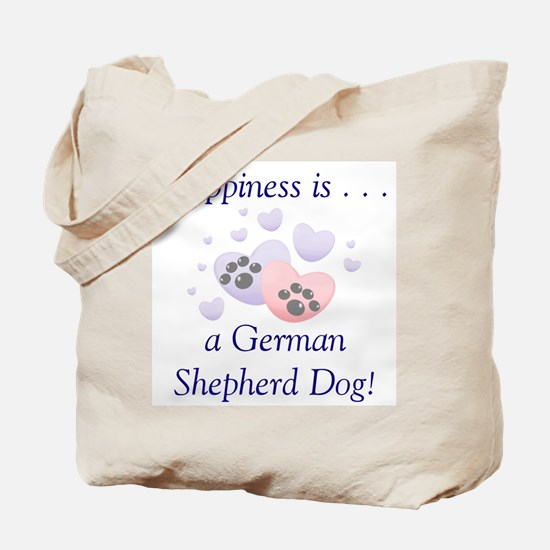 Happiness is...a German Shepherd Dog Tote Bag