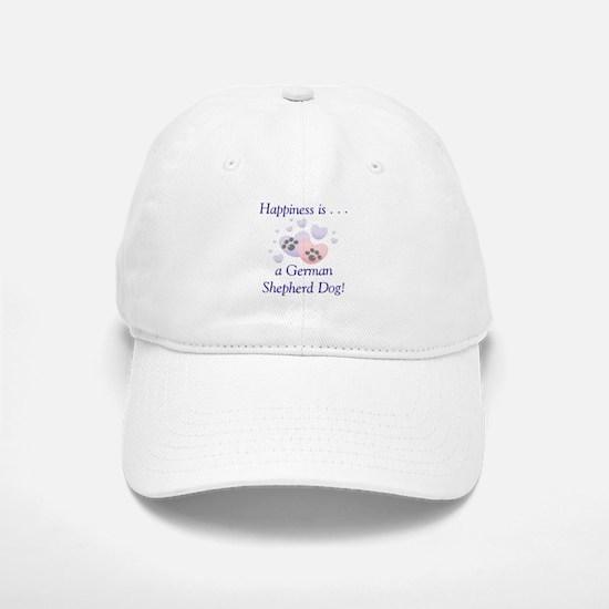Happiness is...a German Shepherd Dog Baseball Baseball Cap
