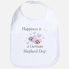 Happiness is...a German Shepherd Dog Bib