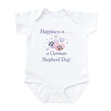 Happiness is...a German Shepherd Dog Infant Bodysu