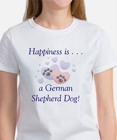 Happiness is...a German Shepherd Dog Women's T-Shi
