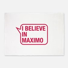 I Believe In Maximo 5'x7'Area Rug