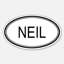 Neil Oval Design Oval Decal