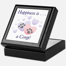 Happiness is...a Corgi Keepsake Box