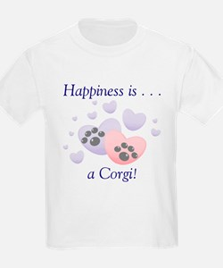 Happiness is...a Corgi Kids T-Shirt