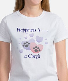Happiness is...a Corgi Women's T-Shirt