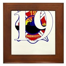 19 Hotshots Arizona Firefighters Framed Tile