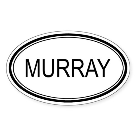 Murray Oval Design Oval Sticker
