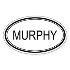 Murphy Oval Design Oval Decal