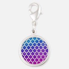 Watercolor Ombre Moroccan Lattice Pattern Charms