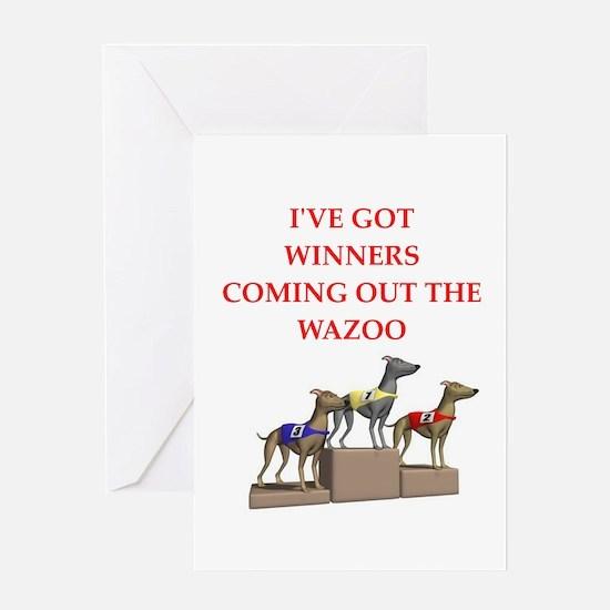 dog racing Greeting Card