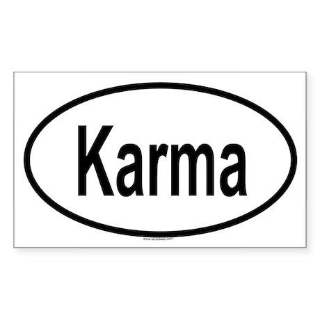 KARMA Oval Sticker