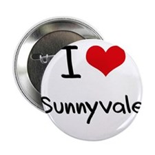 """I Heart SUNNYVALE 2.25"""" Button"""