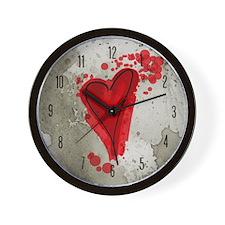 Ink Splatter Heart Wall Clock