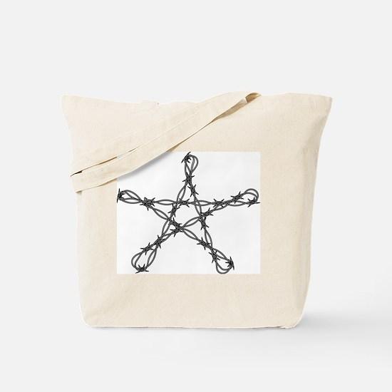 twisted barbed wire pentagram Tote Bag