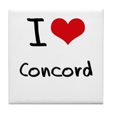 I Heart CONCORD Tile Coaster