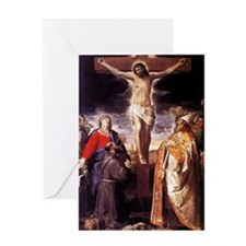 Vintage Painting of the Crucifixion Greeting Card