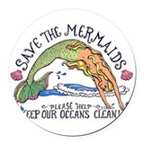 Mermaid Round Car Magnets