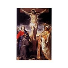 Vintage Painting of the Crucifixion Rectangle Magn