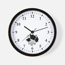 Butterfly-shaped fans Wall Clock