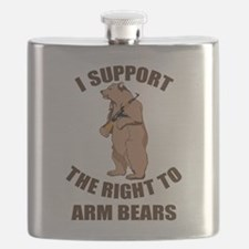 I Support The Right To Arm Bears Flask