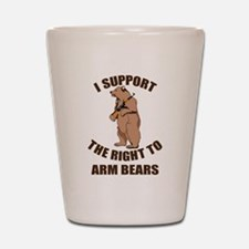 I Support The Right To Arm Bears Shot Glass