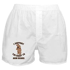 I Support The Right To Arm Bears Boxer Shorts