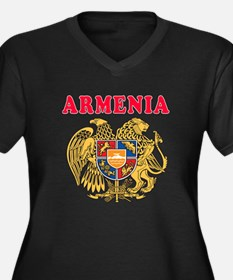 Armenia Coat Of Arms Designs Women's Plus Size V-N