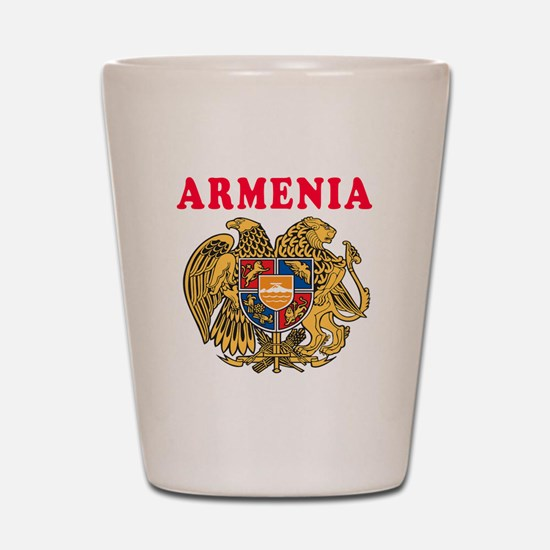 Armenia Coat Of Arms Designs Shot Glass