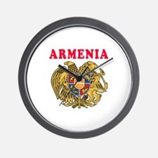 Armenia Coat Of Arms Designs Wall Clock