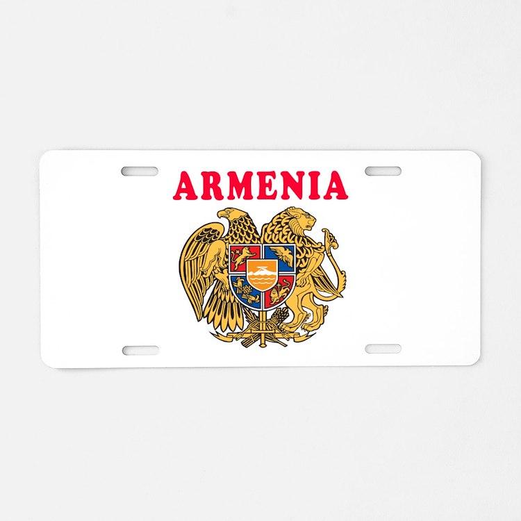 Armenia Coat Of Arms Designs Aluminum License Plat