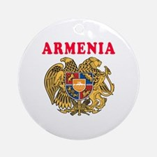 Armenia Coat Of Arms Designs Ornament (Round)