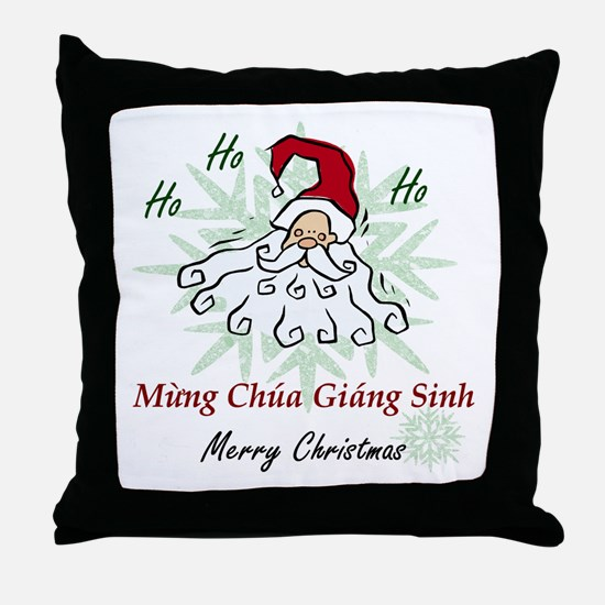 Merry Christmas (Vietnamese) Throw Pillow