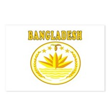 Bangladesh Coat Of Arms Designs Postcards (Package