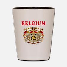 Belgium Coat Of Arms Designs Shot Glass