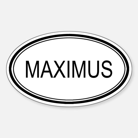 Maximus Oval Design Oval Decal