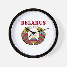 Belarus Coat Of Arms Designs Wall Clock