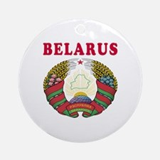 Belarus Coat Of Arms Designs Ornament (Round)