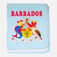 Barbados Coat Of Arms Designs baby blanket