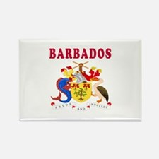 Barbados Coat Of Arms Designs Rectangle Magnet