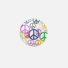 Peace Sign Collage Mini Button