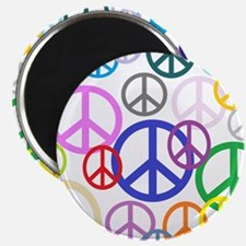 Peace Sign Collage Magnet