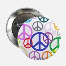 """Peace Sign Collage 2.25"""" Button"""