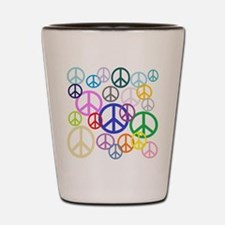 Peace Sign Collage Shot Glass