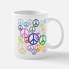 Peace Sign Collage Small Small Mug