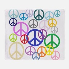 Peace Sign Collage Throw Blanket