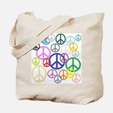 Peace Sign Collage Tote Bag