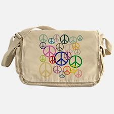 Peace Sign Collage Messenger Bag