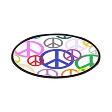 Peace Sign Collage Patches